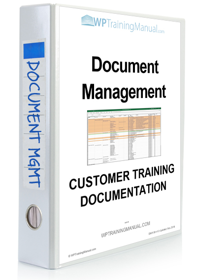 WPTrainingManual.com - Training Section: Document Management system