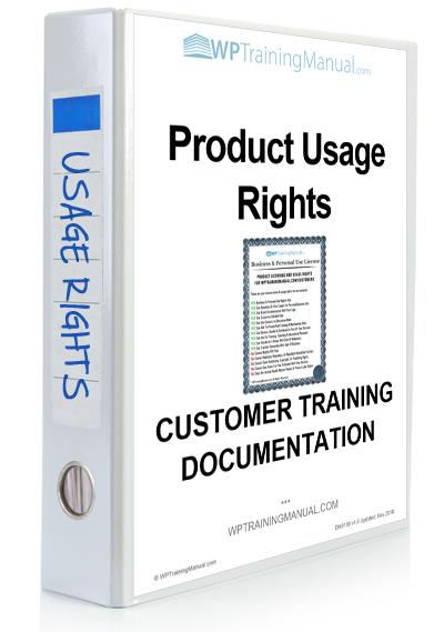 WPTrainingManual.com - Training Section: Documentation Usage Rights